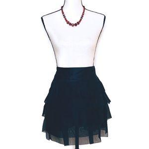 BCBG Maxazria | Silk Tulle Ruffle Skirt
